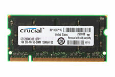 Crucial 1GB PC2700 DDR333MHZ 200Pin 2.5V SODIMM Low Density Laptop Memory RAM 1G