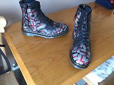 Vintage Dr Martens 1460 St Georges grey boots UK 9 EU 43 skin punk England