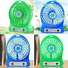 Portable Rechargeable LED Fan air Cooler Mini Operated Desk USB Or Battery