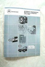 SHOP MANUAL AUTOMATIC TRANSMISSION SERVICE REPAIR MERCEDES BOOK 722 81-96
