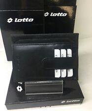 Portafoglio porta carte di credito porta foto documenti LOTTO in pelle nero