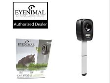 Eyenimal Ultrasonic Outdoor Deterrent Cat Stop Keep Cats Out No Spray Tone+Flash