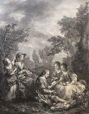 Carle Van Loo la Conversation Espagnole Graveur J Beauvarlet XVIII