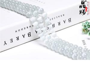 "4-16mm New Natural Genuine White Selenite Round Beads 15.5"" Strand with eye US"