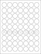 6 SHEETS 1 IN ROUND BLANK WHITE *MATTE* STICKERS LABELS CUSTOM.