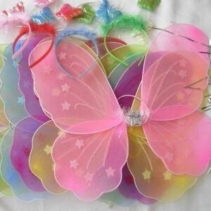 Butterfly Wings Wand Headband Fancy Dress Hen Night Party 9 Colour