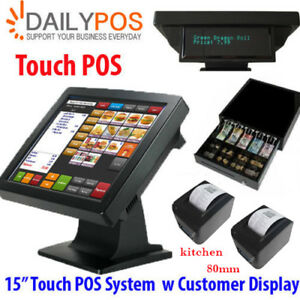 New Touch POS System restaurant cafe Takeaway Pizza Fish Chips bar Cash Register