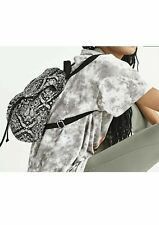 NEW Victorias Secret PINK MINI Backpack Black and White Paisley