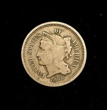 1865 P US 3 Cent Coin (C#3273)
