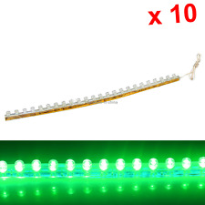 10x Green Flexible Strip Light 24CM 9.4' Waterproof 24 Great Wall LED M001