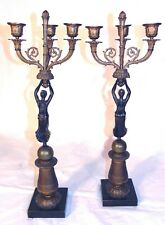 Pr 19th C French Empire Bronze Candelabra Figural Pierre-Philippe Thomire Candle