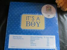 24 It's a Boy Candy Bar Wrappers - (set of 24) - For Baby Shower or Christening