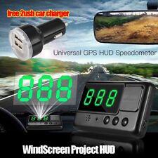 Universal GPS HUD Speedometer Digital Heads Up Display Car Speed Warning MPH AU