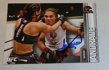 Jessica Andrade Signed UFC 2015 Topps Champions Card #60 Autograph 199 171 191