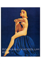 Pin Up Girl Poster 11x17 beautiful nude figure study blonde with flowers