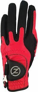Zero Friction Compression-Fit Technology Men's Left Hand Golf Glove - Red/Black