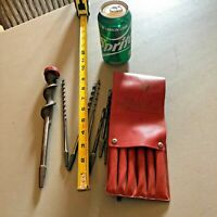 Mixed lot Auger Brace Drill Bit Lot and Craftsman 18/16 Auger Brace Bit