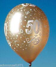 """5 Stck LUFTBALLON gold Luftballons GOLDENE HOCHZEIT """" 50 """" Jubiläum GOLDHOCHZEIT"""