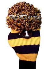 new #1 blue yellow Pom Pom headcover golf club head cover fits Taylormade driver