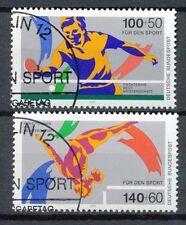 Bundespost 1408-1409 gestempeld motief sport