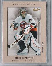 05-06 2005-06 BEEHIVE RICK DiPIETRO MATTE PARALLEL /100 58 NEW YORK ISLANDERS
