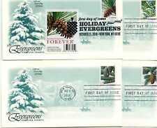 4478-81 Christmas 2010, Evergreens 4 ArtCraft, FDCs