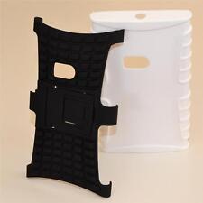 White Nokia Lumia 920 Heavy Duty Durable Tradesman TPU Hard Case Cover Stand