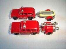 AMERICAN FIRE ENGINES RESCUE MODEL CARS SET 1:160 N KINDER SURPRISE MINIATURES