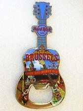 BRUSSELS,Hard Rock Cafe,Bottle Opener Magnet,City