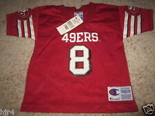 Steve Young #8 San Francisco 49ers Champion NFL Jersey Toddler 3T NEW