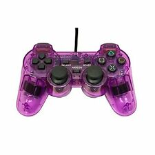 PS2 PlayStation 2 Wired Replacement Controller Transparent Purple By Mars 4Z