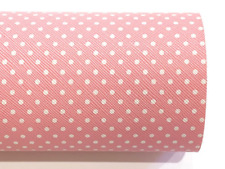 Baby Pink Polka Dots Leather Fabric Sheet