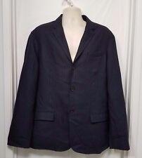RL Denim & Supply Mens Sports Coat Blazer Linen Light Stripe Sz XL Blue C10 $298