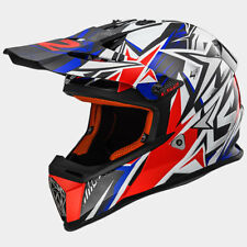 CASCO DA MOTO PER CROSS ENDURO QUAD LS2 MX 437 FAST STRONG NUOVO TAGLIA M
