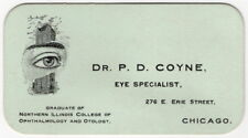 "Ophthalmology Re: Vintage Illustrated Business Card - ""Eye Specialist"" [Chicago]"
