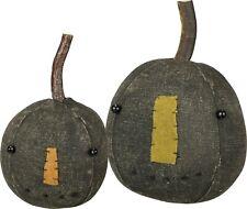 PBK Primitive Black Plush Pumpkin Head Set Fall Halloween
