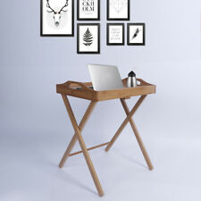 Folding Wood Portable Tray Table Stand Tea Dinner Craft Snack Laptop Servicing
