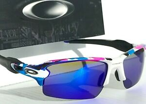 NEW* Oakley FLAK 2.0 XL Meguru Spin POLARIZED Galaxy Blue Mirror Sunglass 9188