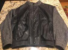 """Burberrys Jacket Coat Leather Tweed Men's 42"""""""
