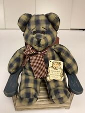 Boyds Bear Jethro #5930 Bears In The Attic Patchwork Country Bear Rare Vintage