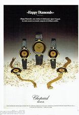 PUBLICITE ADVERTISING  016 1979  CHOPARD  montres Happy Diamonds