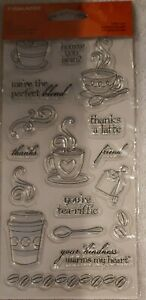 "Fiskars 155110-1001 Latte Love Clear Stamps (4"" x 8"")"
