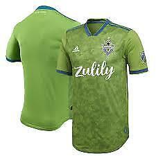 Adidas MLS Seattle Sounders Men's Green Home Jersey Green/Blue
