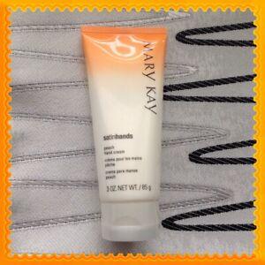 New Mary Kay Satin Hands Peach Hand Cream Full Size 3 oz ~ Fast Ship