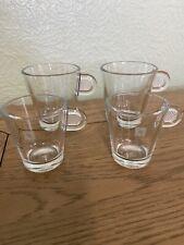 Nespresso Glass Collection Espresso Coffee Mugs & Coffee Shot Mugs VGC 4 Set