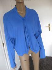 Ulla Popken wunderschöne Shirtjacke/Bolero  Gr. 58/60  blau