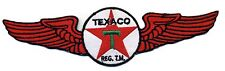 "8"" Texaco Patch with wings Gas Station Motor Oil Flying Hot Rod Motorcycle"