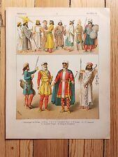 Persian Costume - 1882 - Fashion History, Original Print, chromolithograph Art