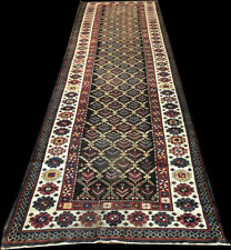 Antique Worn Out 14' Long Worn Out Caucasian Talish Hallway Runner Rug