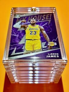 Lebron James OPTIC MY HOUSE SPECIAL INSERT GLOSSY LAKERS INVESTMENT CARD - Mint!